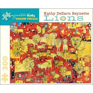 "Pomegranate (JK010) - Kathy DeZarn Beynette: ""Lions"" - 300 piezas"