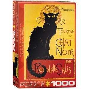 "Eurographics (6000-1399) - Steinlen: ""Chat Noir"" - 1000 piezas"