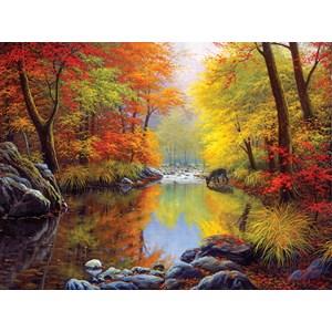 """SunsOut (48535) - Charles White: """"Autumn Sanctuary"""" - 1000 piezas"""