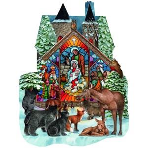 """SunsOut (96055) - Parker Fulton: """"Forest Nativity"""" - 1000 piezas"""