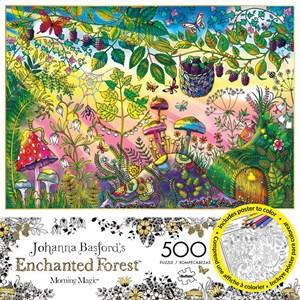 "Buffalo Games (3846) - Johanna Basford: ""Morning Magic (Enchanted Forest)"" - 500 piezas"