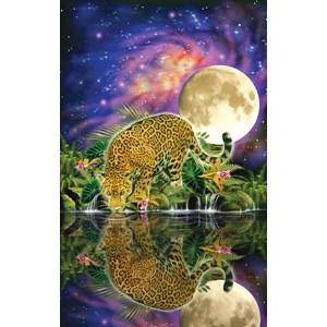 """SunsOut (80115) - John Enright: """"Leopard Moon"""" - 550 piezas"""