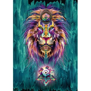 """Schmidt Spiele (59325) - Chris Saunders: """"Luminescent Lion"""" - 1000 piezas"""