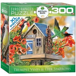 "Eurographics (8300-0602) - Janene Grende: ""Trumpet Vines & Tree Sparrows"" - 300 piezas"