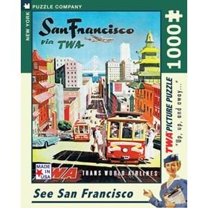 "New York Puzzle Co (AA701) - David Klein: ""See San Francisco, TWA Travel Posters"" - 1000 piezas"