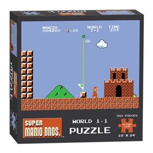"""USAopoly (PZ005-488) - """"Super Mario Bros. World 1-1"""" - 550 piezas"""