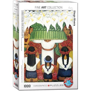"Eurographics (6000-0798) - Diego Rivera: ""Flower Festival, Feast of Santa Anita"" - 1000 piezas"