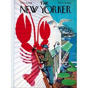 "New York Puzzle Co (NY168) - ""Seaside Cafe'"" - 500 piezas"