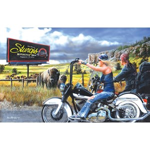 "SunsOut (57768) - Kevin Daniel: ""Heading for Sturgis"" - 550 piezas"