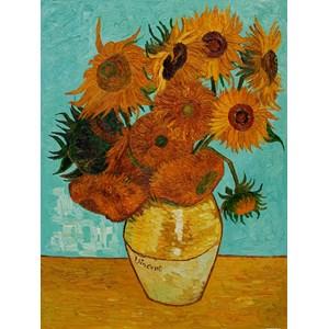 """Piatnik (561740) - Vincent van Gogh: """"Sunflowers"""" - 1000 piezas"""