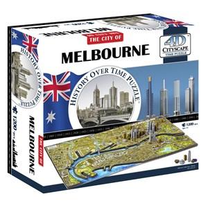 """4D Cityscape (40060) - """"Melbourne, Australia"""" - 1200 piezas"""