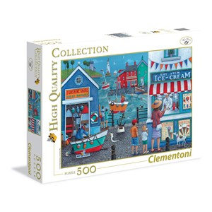 "Clementoni (35009) - Peter Adderley: ""Ice Cream on the Seaside"" - 500 piezas"