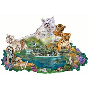 "SunsOut (96108) - Alixandra Mullins: ""Tigers at the Pool"" - 1000 piezas"