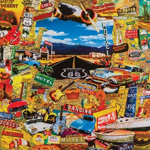"""SunsOut (30052) - John Roy: """"On the Route"""" - 1000 piezas"""