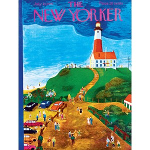 "New York Puzzle Co (NY023) - Ilonka Karasz: ""The Lighthouse"" - 500 piezas"