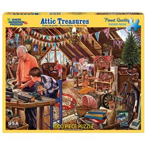 "White Mountain (1123PZ) - Steve Crisp: ""Attic Treasures"" - 1000 piezas"
