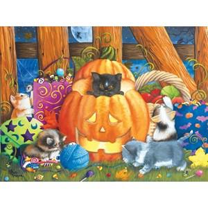 """SunsOut (12540) - Ashley Davis: """"Halloween Surprise"""" - 1000 piezas"""