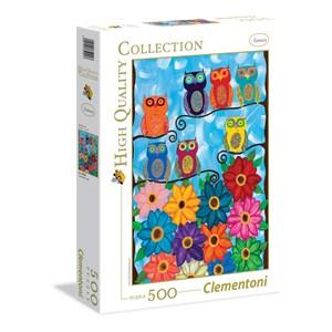 """Clementoni (35024) - Kerri Ambrosino: """"Cute Little Owls"""" - 500 piezas"""