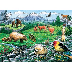 "Cobble Hill (58806) - ""Rocky Mountain Wildlife"" - 35 piezas"