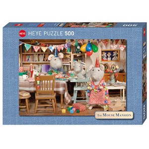 "Heye (29705) - Karina Schaapman: ""Mouse Mansion, Celebration"" - 500 piezas"