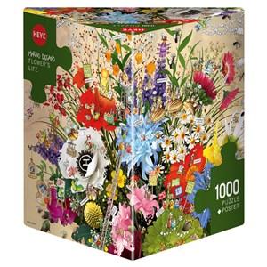 """Heye (29787) - Marino Degano: """"Flower's Life"""" - 1000 piezas"""