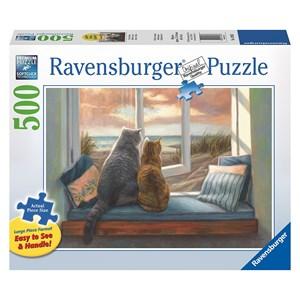 "Ravensburger (14903) - Lucie Bilodeau: ""Window Buddies"" - 500 piezas"