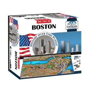 "4D Cityscape (40080) - ""Boston, USA"" - 1100 piezas"