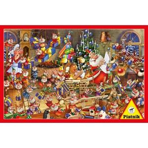 "Piatnik (537943) - François Ruyer: ""Christmas Chaos"" - 1000 piezas"