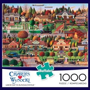 "Buffalo Games (11437) - Charles Wysocki: ""Labor Day in Bungalowville"" - 1000 piezas"