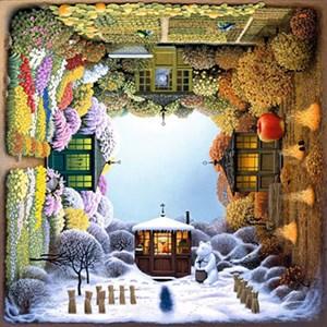 "Anatolian (PER1012) - Jacek Yerka: ""Four Seasons Garden"" - 1000 piezas"