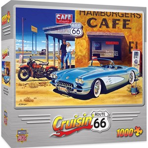 """MasterPieces (71517) - Hiroaki Shioya: """"Route 66 Café"""" - 1000 piezas"""