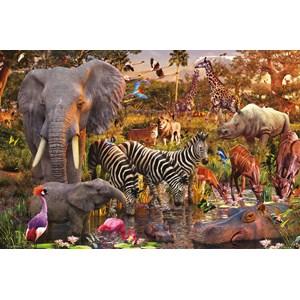 "Ravensburger (17037) - David Penfound: ""African Animal World"" - 3000 piezas"