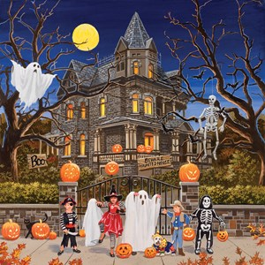 "SunsOut (30425) - William Vanderdasson: ""Beware Haunted House"" - 1000 piezas"