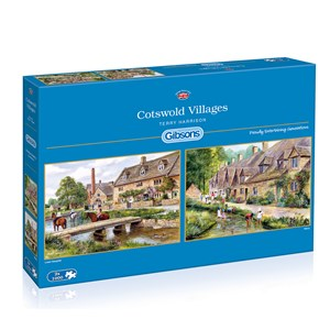 """Gibsons (G5028) - Terry Harrison: """"Cotswold Villages"""" - 1000 piezas"""