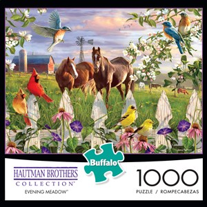 "Buffalo Games (11166) - Hautman Brothers: ""Evening Meadow"" - 1000 piezas"