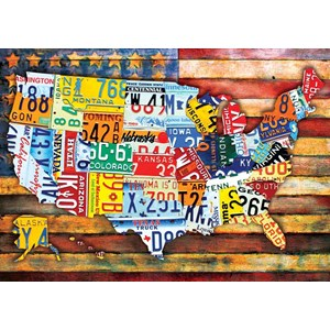 """Buffalo Games (2483) - """"Road Trip U.S.A."""" - 300 piezas"""