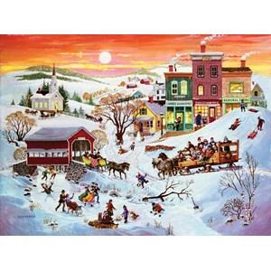 """SunsOut (14070) - Bob Pettes: """"Winter Wonderland"""" - 1000 piezas"""