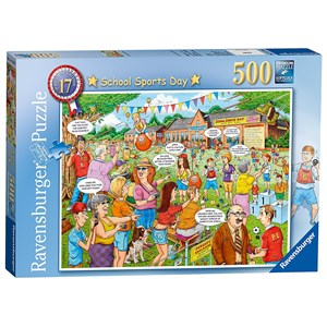 "Ravensburger (14749) - Geoffrey Tristram: ""School Sports Day"" - 500 piezas"