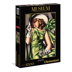 "Clementoni (39332) - Tamara de Lempicka: ""Young Girl In Green"" - 1000 piezas"