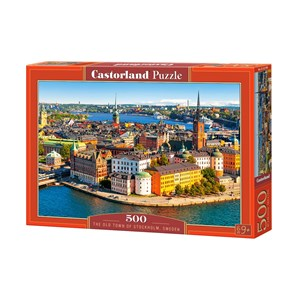 "Castorland (B-52790) - ""The Old Town of Stockholm, Sweden"" - 500 piezas"