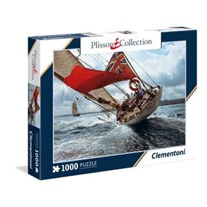 """Clementoni (39389) - Philip Plisson: """"J-Class Yacht Velsheda"""" - 1000 piezas"""