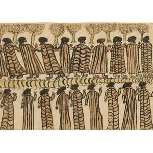 """Grafika (00265) - William Barak: """"Figures in Possum Skin Cloaks, 1898"""" - 1000 piezas"""