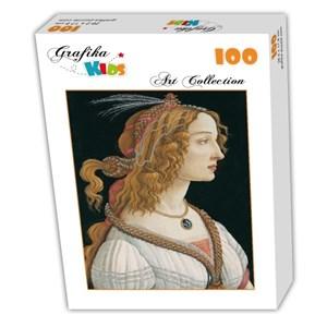 "Grafika Kids (00695) - Sandro Botticelli: ""Portrait of a young Woman, 1494"" - 100 piezas"