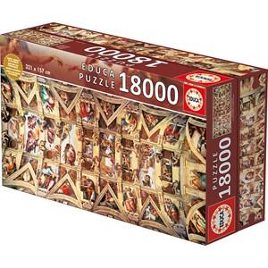 """Educa (16065) - Michelangelo: """"Sistine Chapel"""" - 18000 piezas"""