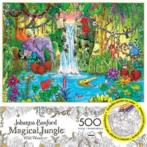 "Buffalo Games (3847) - Johanna Basford: ""Magical Jungle"" - 500 piezas"