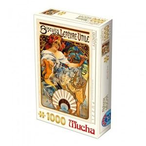 "D-Toys (66930-MU04) - Alphonse Mucha: ""Lefèvre-Utile Biscuits"" - 1000 piezas"
