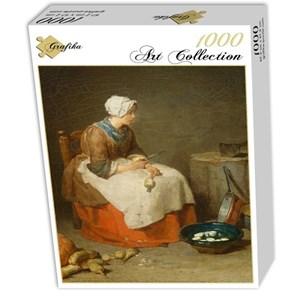 """Grafika (01122) - Jean-Baptiste-Siméon Chardin: """"The Kitchen Maid, 1738"""" - 1000 piezas"""