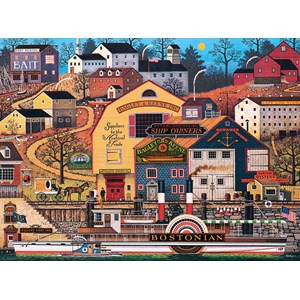 "Buffalo Games (11442) - Charles Wysocki: ""The Bostonian"" - 1000 piezas"