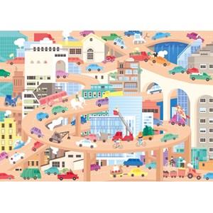 """Puzzle Michele Wilson (W442-24) - Lucie Georger: """"Vive la Ville"""" - 24 piezas"""