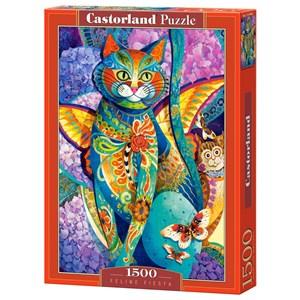 "Castorland (C-151448) - David Galchutt: ""Feline Fiesta"" - 1500 piezas"